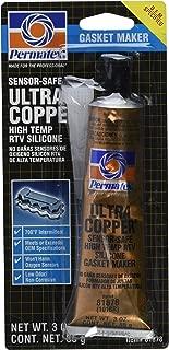 12 Pack Permatex 81878 Ultra Copper Maximum Temperature RTV Silicone Gasket Maker - 3 oz Tube (101BR)