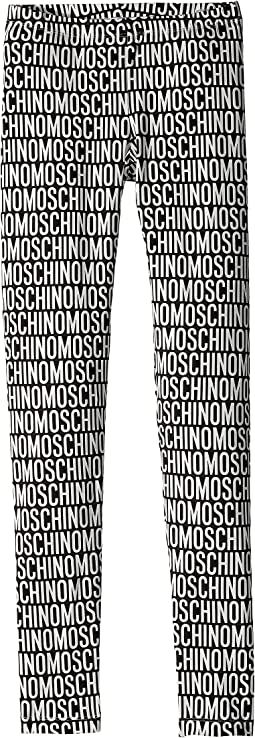 Moschino Kids - All Over Logo Print Leggings (Big Kids)