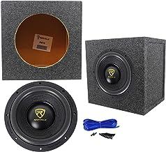 "Rockville W10K9D2 10"" 3200 Watt Car Audio Subwoofer + Sealed Sub Box Enclosure"