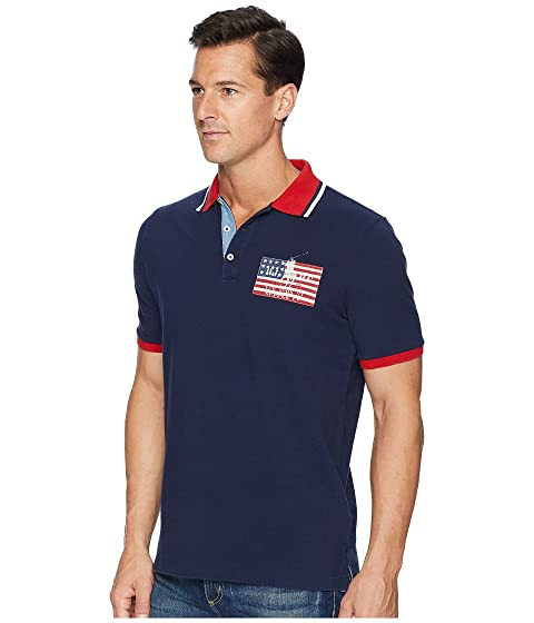 Polo Polo Ralph Navy Lauren Piqué Flag American Cruise rxrdXqwFC