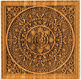 Mandala Wood carving Oriental Home decor wall art carvings Oriental ornament Bed Panel Wood gift