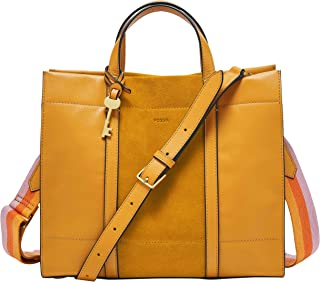 Fossil Carmen Leather 30.81 cms Yellow Gym Tote (ZB6504721)