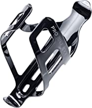 Bike Water Bottle Holder, Black or White Gloss, Secure Retention System, No Lost Bottles, Lightweight and Strong Bicycle Bottle Cage, Quick and Easy to Mount, Great for Road and Mountain Bikes.