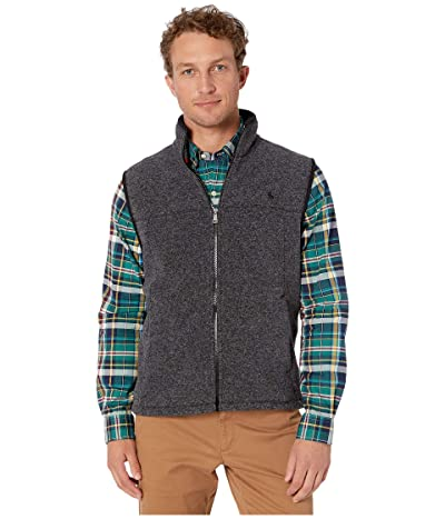 Polo Ralph Lauren Poly Fleece Vest (Black Marl Heather) Men