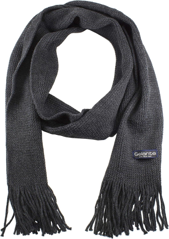 Gelante Men Classic Knit Winter Scarf Warm Double layer