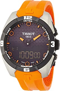 Tissot Men's T0914204705101 Analog-Digital Display Quartz Orange Watch