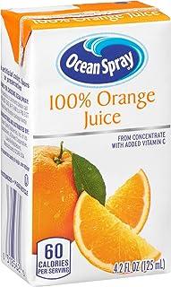 Ocean Spray 100% Orange Juice, 4.2 Ounce Juice Box (Pack of 40)