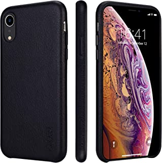 Best iphone xr black leather case Reviews