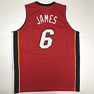 Unsigned LeBron James Miami Red Custom Stitched Basketball Jersey Size Men's XL New No Brands/Logos