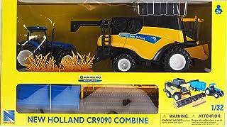 Ray 1: 32 Escala New Holland Combinar, Tractor y Remolque