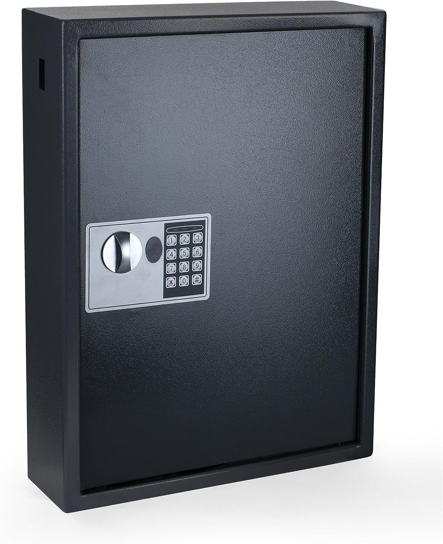 AES con Seguridad el/éctrica PAVO 8056019 Llaves//Armario//Caja Fuerte 100 Ganchos Clave la Ranura Lateral Acero Gris Oscuro