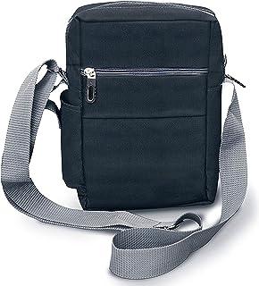 SNDIA Sling Cross Body Travel Office Business Messenger Shoulder Bag for Men Women (Grey)