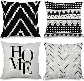 Details about  /2Pcs Simple Geometric Lines Pillowcase Landscape Pillow Cover Linen Pillowcase