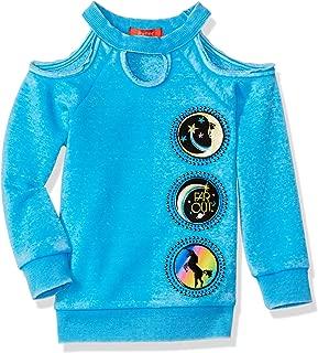 Butter Girls' Fleece Cold Shoulder Pullover Sweater Top