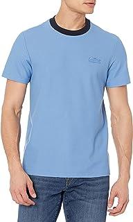 Men's Short Sleeve Contrast Collar with Tonal Croc T-Shirt