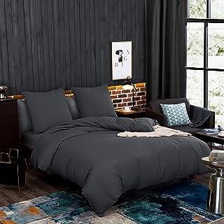 Bettwäsche 200x200 cm Bettgarnitur Bettbezug Baumwolle Kissen 5 tlg GELINCIK BLA