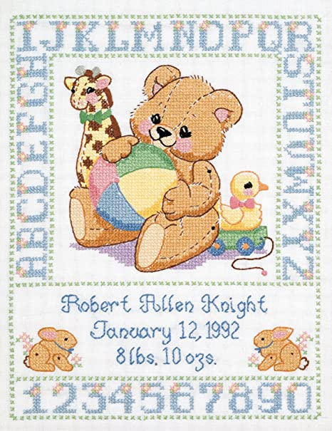 Janlynn counted cross stitch Catch a falling Star Baby Boy  Baby Shower Gift Kit Unopened