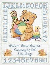 Janlynn C5589 Bear Birth Sampler Stamped Cross Stitch Kit-11