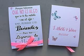 L/ágrimas de Felicidad para Bodas con pa/ñuelo de papel 50 unidades