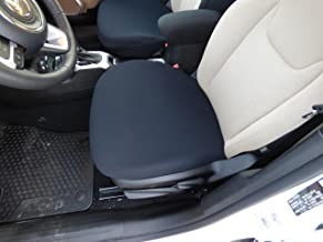 USA Seamstress Premium Neoprene Bottom Seat Cover for Cars, Trucks, and SUV's, One Size Fits All - Seat Protector for Pets, Dirt, Sand, and More (Black) (1 pc)