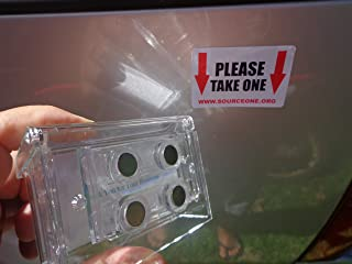 Source One Clear Lid Magnetic Outdoor Vehicle Business Card Holder Free Exterior (Take One) Sticker Included As Pictured (S1-OBC-MAG)