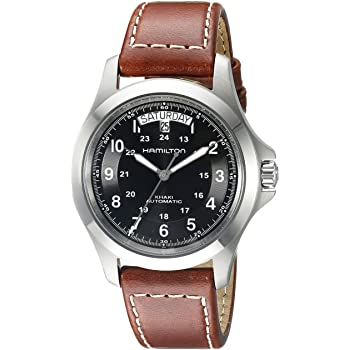 Hamilton Men's H64455533 Khaki King Series Stainless Steel Automatic Watch with Brown Leather Band