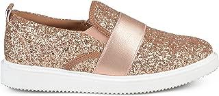 Womens Glitter Ribbon Slip-on Sneakers