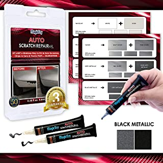 MagicEzy Auto Scratch Repairezy (Black Metallic Kit): Repair Car Paint Chips in Seconds - Precise Color Match - Touch-Up Filler – No Messy Drips