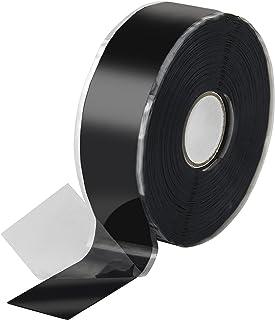 Poppstar - Cinta de silicona de autofusión, 1 x 11 m, ideal como cinta de reparación, cinta aislante y cinta de sellado (estanca, hermética), 25mm de ancho, color negro