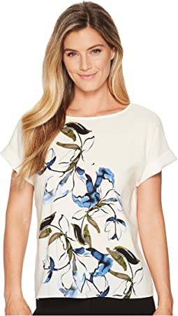 Vince Camuto - Extend Shoulder Ink Portrait Print Blouse