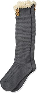 Girls' Big Lace & Buttons Boot Knee High Socks