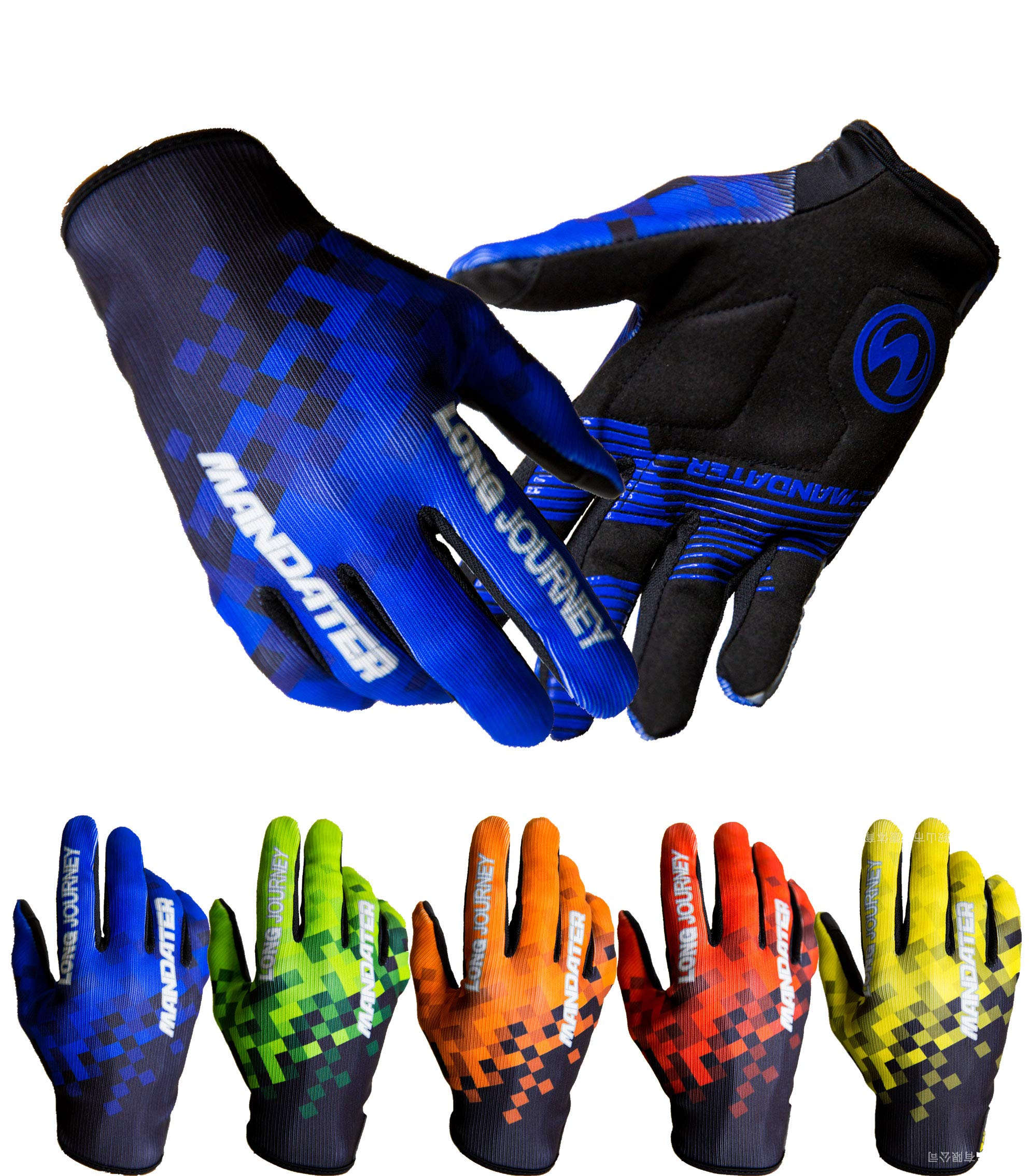 Full Finger Touch Screen Motorcycle//Mountain MTB Road Bicycle Bike Workout Glove for Men or Women Mandater Cycling Gloves