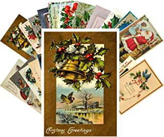 Vintage Christmas Greeting Cards 24pcs Antique Merry Christmas Angels Santa REPRINT Postcard Set