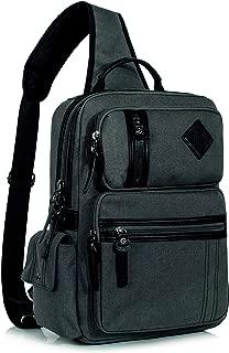 Leaper Stylish Messenger Bag Sling Bag Cross Body Bag Shoulder Bag Dark Gray