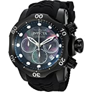 Men's Venom Stainless Steel Quartz Watch with Silicone Strap, Black, 31 (Model: 22354)