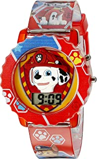 Paw Patrol Kids' Digital Watch with Red Case, Comfortable...