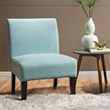 Christopher Knight Home Kendal Light Blue Fabric Accent Chair, One