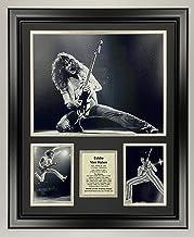 Legends Never Die Eddie Van Halen - Solo   Framed Double Matted Photo Collage   18