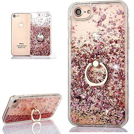 [Pas pour 6/6S] Hancda Coque Liquide pour iPhone 6 Plus / iPhone 6S Plus Etui Housse Coque Case Liquide Paillette Transparente Silicone Glitter Cover ...
