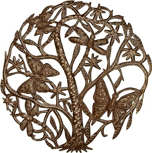 ventas directas de fábrica Mariposas y libélulas 24inch Metal Metal Metal Art Croix des Ramos  diseño único