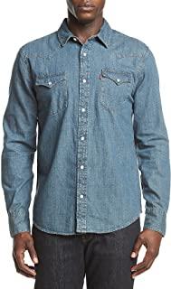 Levi's Men's Standard Barstow Denim Western Snap-Up Shirt