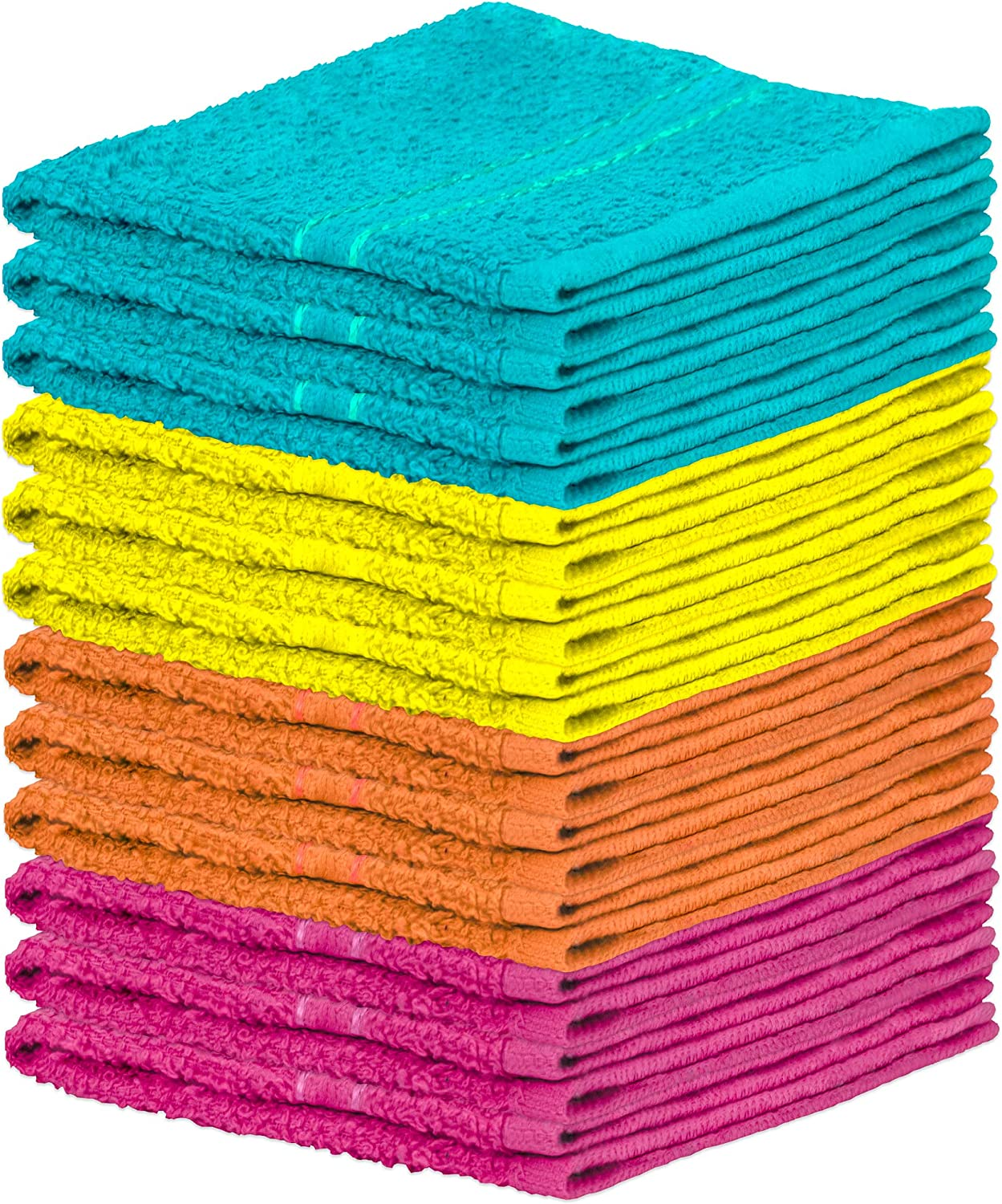 COTON MODE/® White Hygiene Biofresh Antibacterial Cotton Dish Cloth Super Soft Absorbent Kitchen Cloth Professional Catering Wash Cloth Pack of 10 Cloths