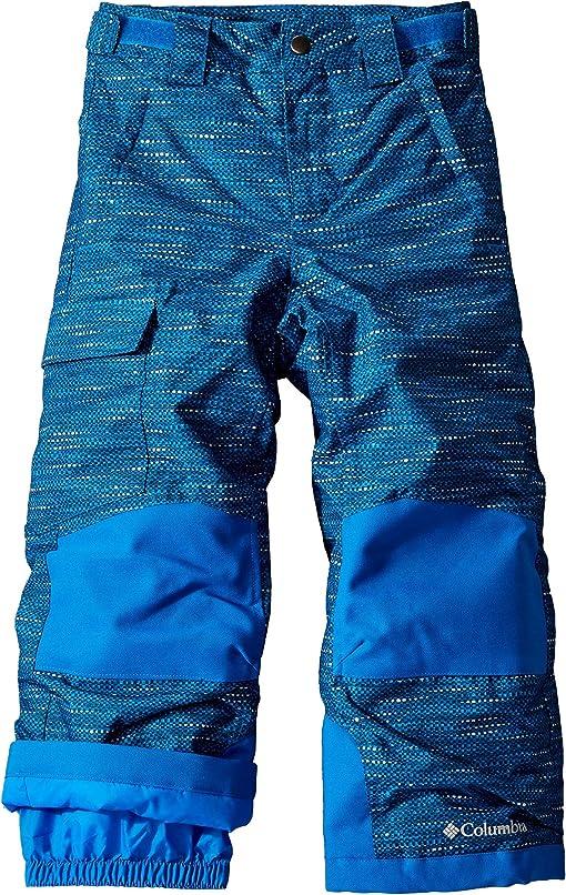 Super Blue Tweed Print