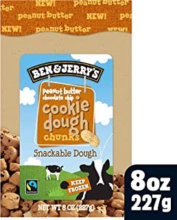 Ben & Jerry's Dough Chunks Peanut Butter Chocolate Chip Cookie Dough, 8 oz (frozen)