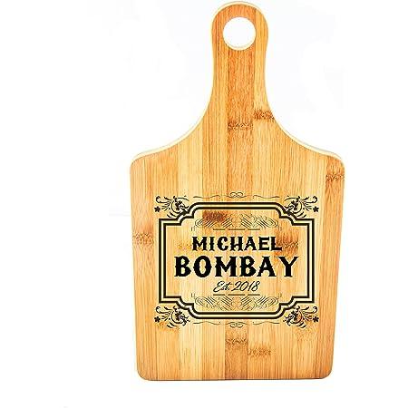 Housewarming Anniversary Bamboo Wood --21072-PADB-001 Engraved Cutting Board Custom Cutting Board Personalized Paddle Cutting Board