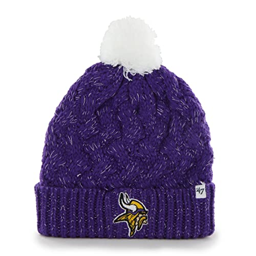 47 NFL Women s Minnesota Vikings Embroidered Fiona Cuff Knit Hat with Pom.    931b6a811