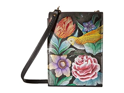 Anuschka Handbags Mini Sling Organizer 412 (Vintage Bouquet) Cross Body Handbags