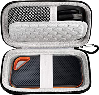 Hard Case Compatible with SanDisk 500GB/ 1TB/ 2TB Extreme PRO Portable External SSD. Carrying Travel Holder for USB Cables...
