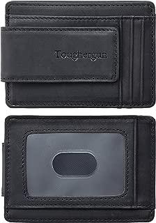 Genuine Leather Magnetic Front Pocket Money Clip Wallet RFID Blocking