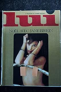 LUI 131 DECEMBRE 1974 COVER JANE BIRKIN ENTIEREMENT NUE TOALL TALY NUDE SERGE GAINSBOURG INTERVIEW JEAN GABIN